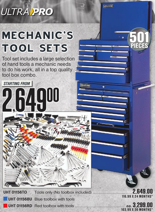 Ultra Pro Mechanic's Tool Sets