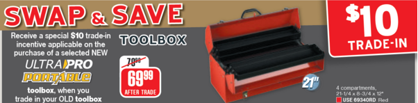 Swap and Save March - Tool Box